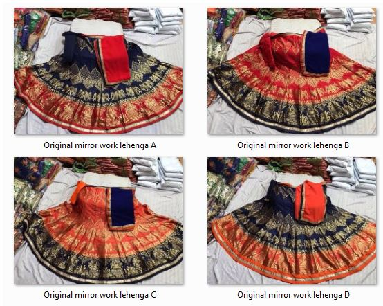 Shop Original Mirror Work Lehenga Choli Online
