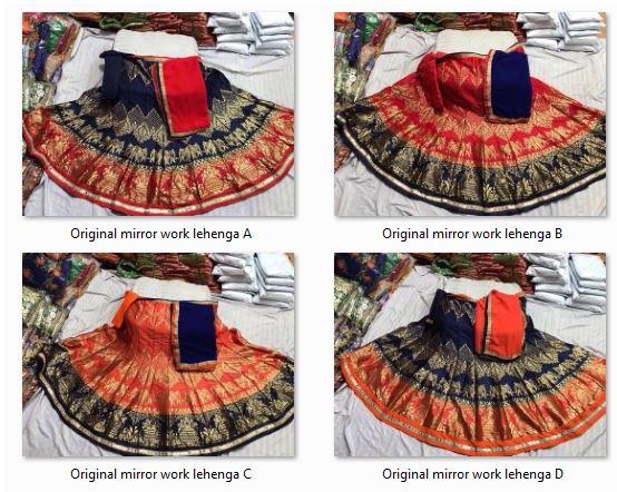 Original mirror work lehenga