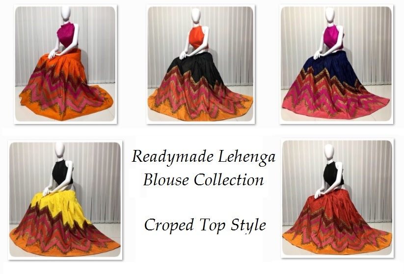 414fbc9d65c3f1 Readymade Lehenga Blouse Crop Top Styled Collection