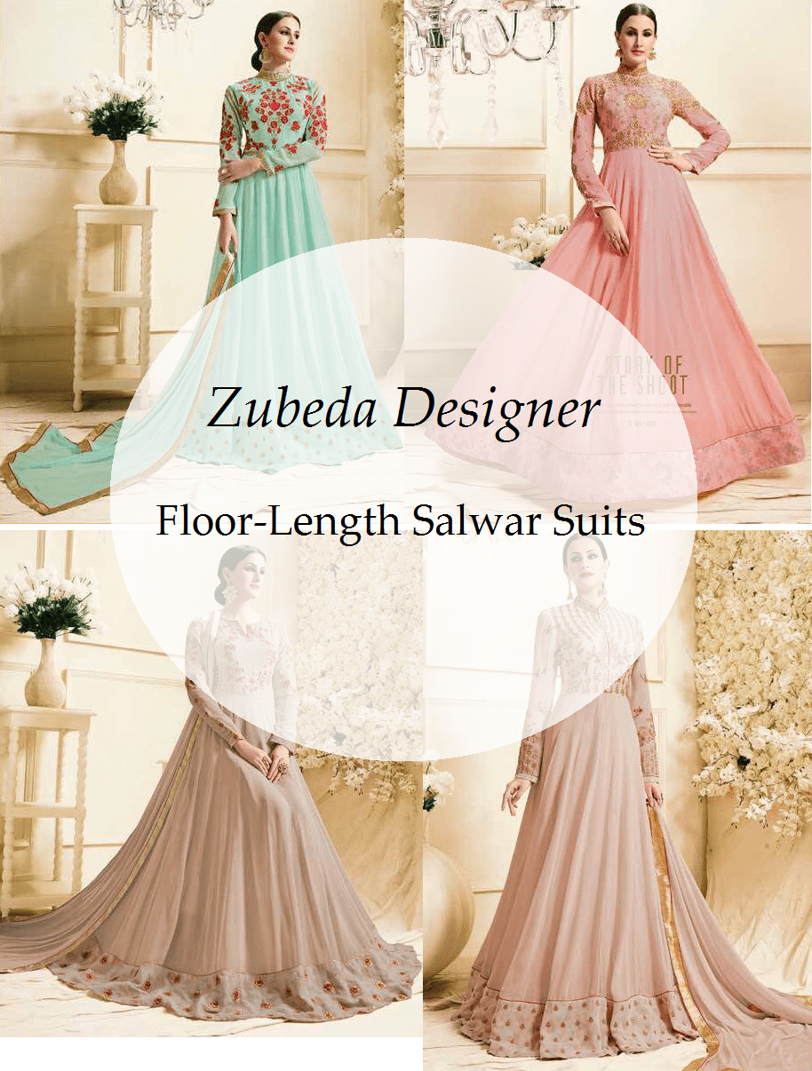 Shop Zubeda Designer Floor Length Salwar Suits Online
