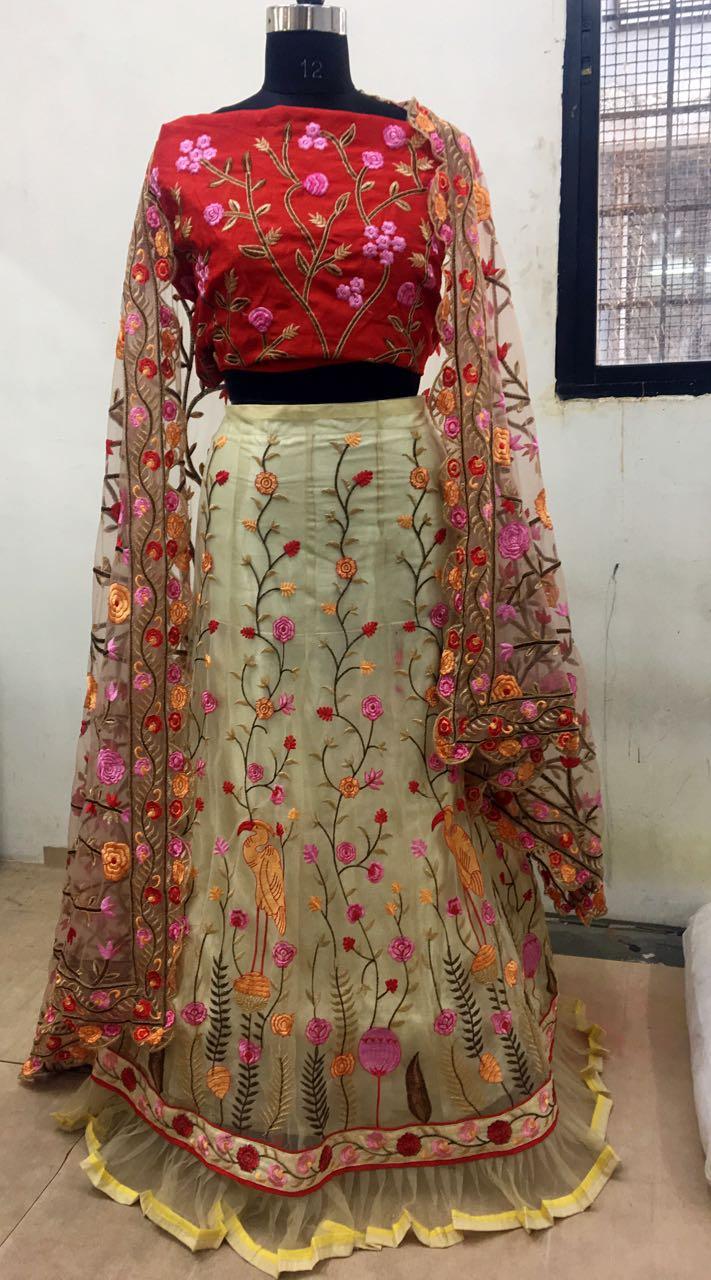 Shraddha Kapoor Designer Crop Top Lehenga BT 160 Replica