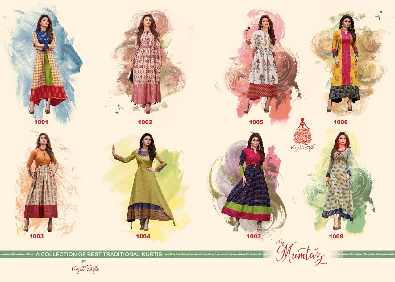 Mumtaz Vol 1 Kajal Style Anarkali Kurtis
