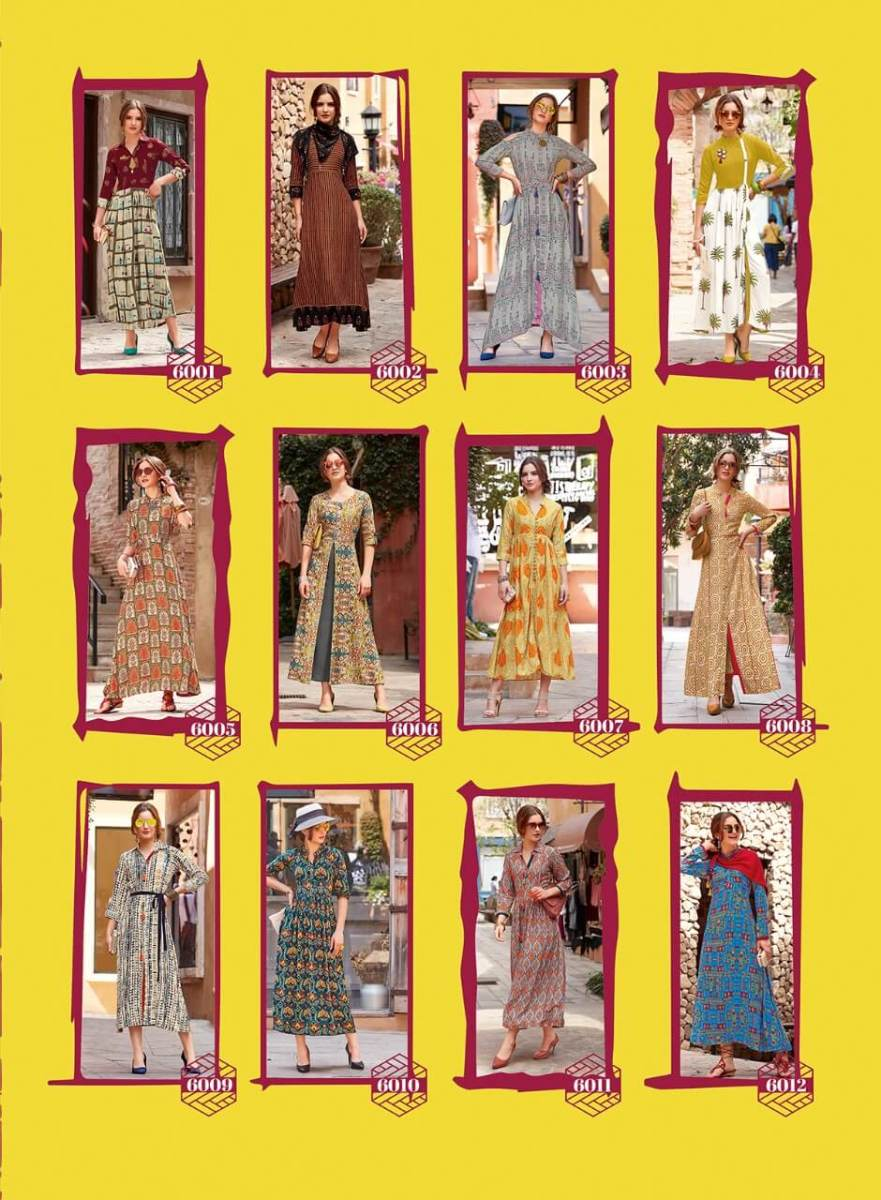 Shop Kajal Style Designer Long Kurtis Dairy Milk Vol 5 and 6 Online
