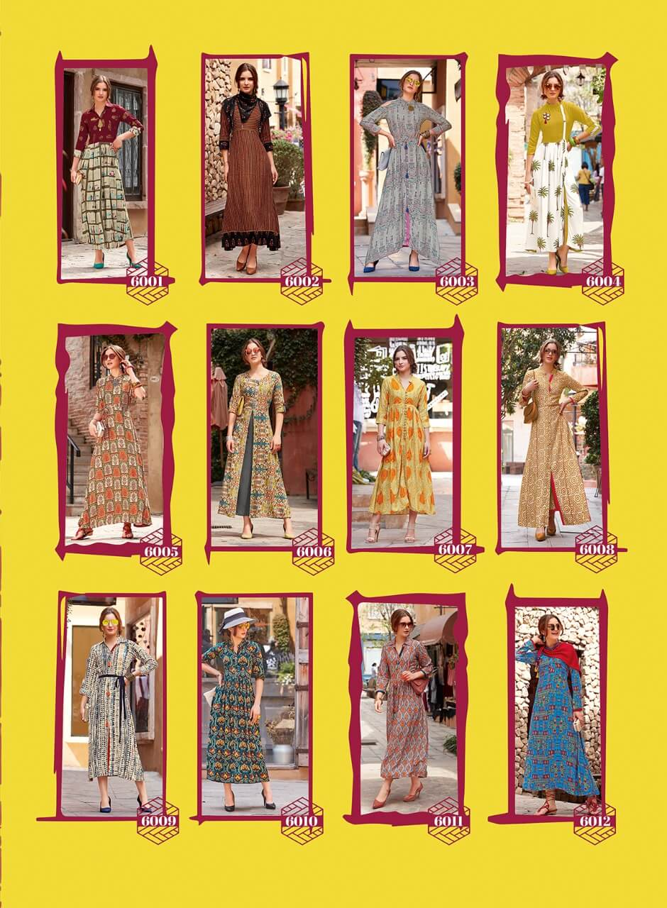 Kajal Style Designer Long Kurtis Dairy Milk Vol 5 and 6