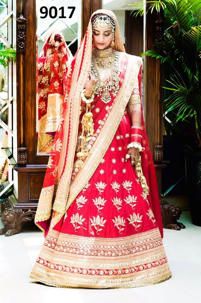 Shop Sonam Kapoor Wedding Bridal Lehenga Blouse Replica 9017 Online