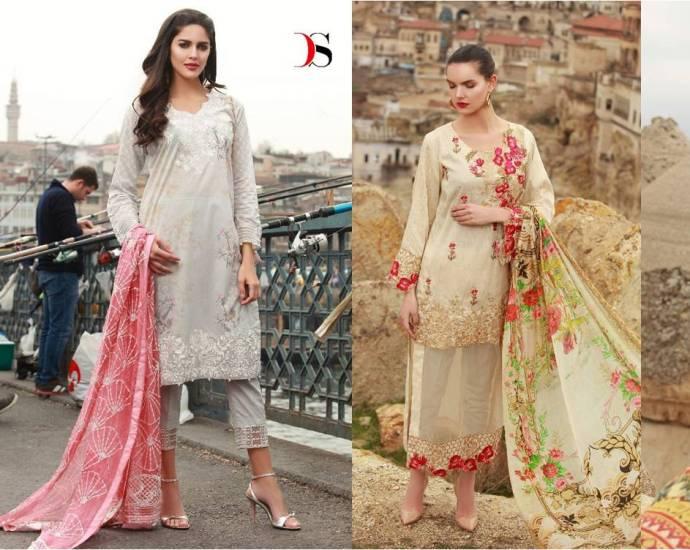 Deepsy Muslin 2 Pakistani Cotton Dress Material