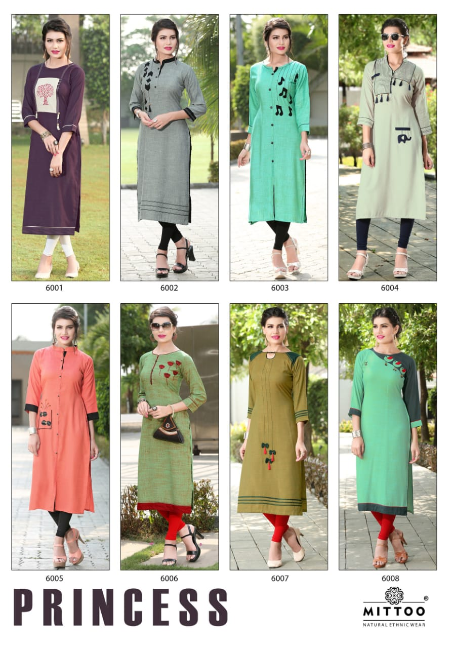 Knee Length Kurti Mittoo Princess vol 1