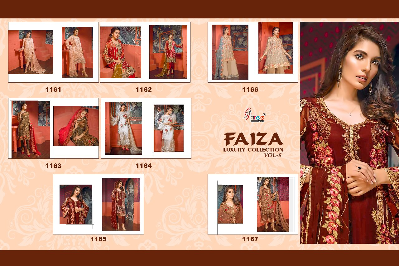 Shop Pakistani Designer Suits Faiza Luxury Collection Vol 8 Online