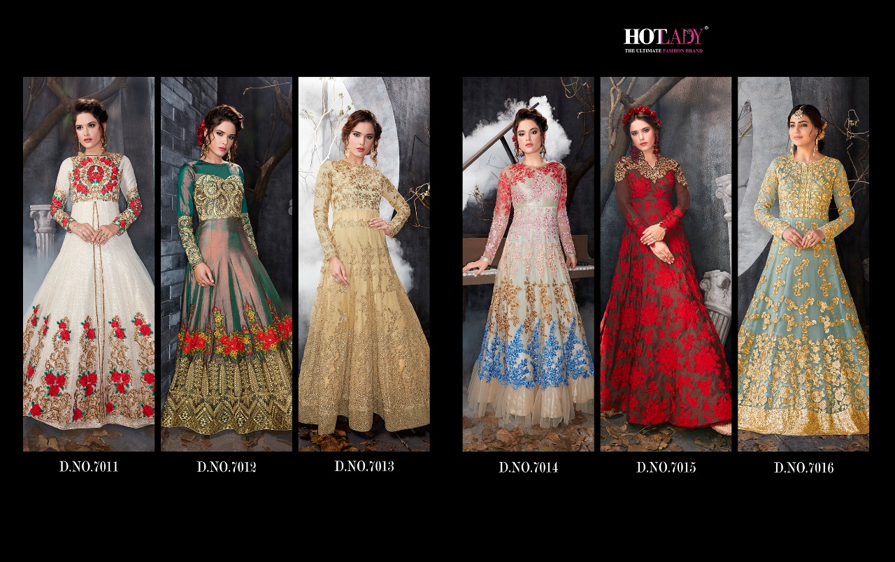 Sameena Anarkali Style Reception Suits