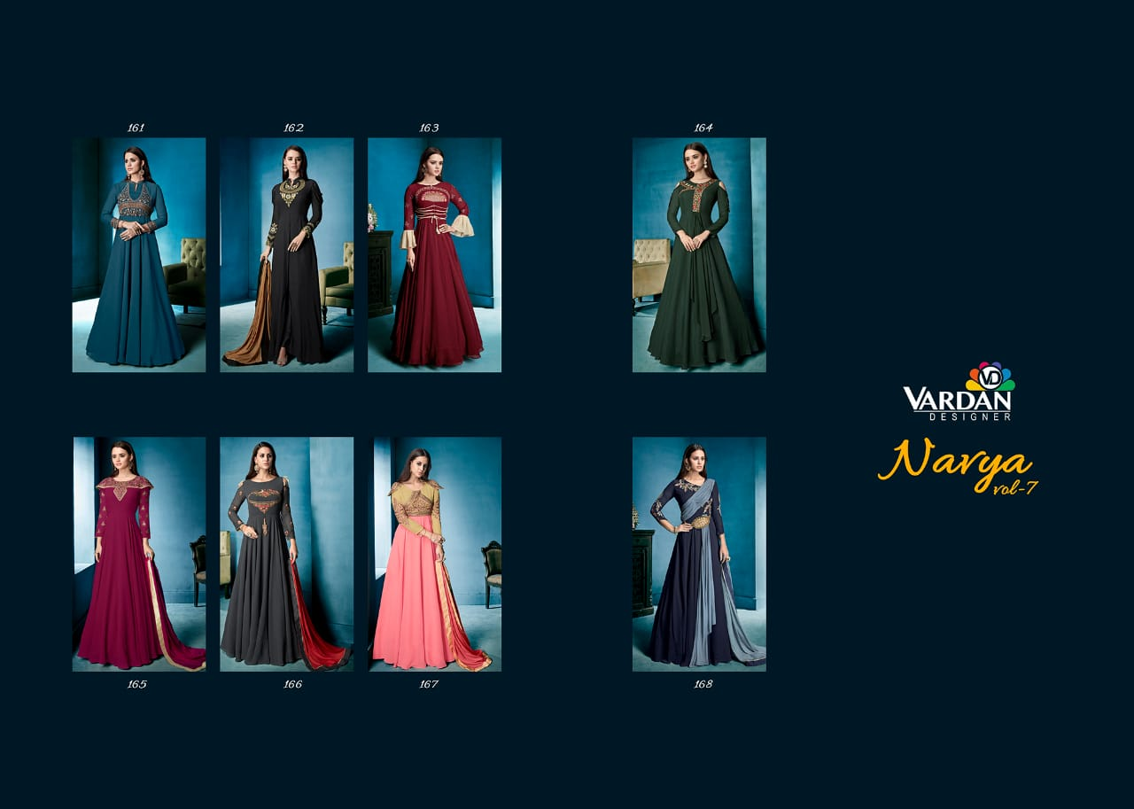 Shop Anarkali Style Floor Length Gown Navya vol 7 Online