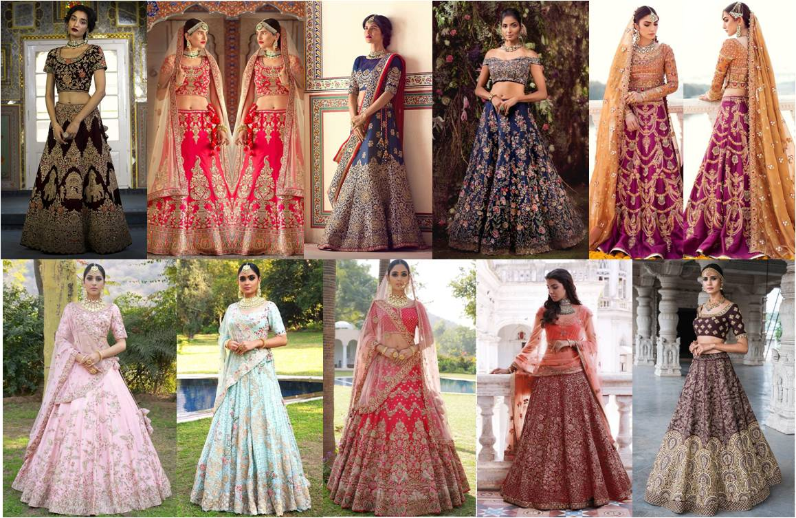 Cheap wedding dresses for Brides - Indian Bridal Lehenga Choli