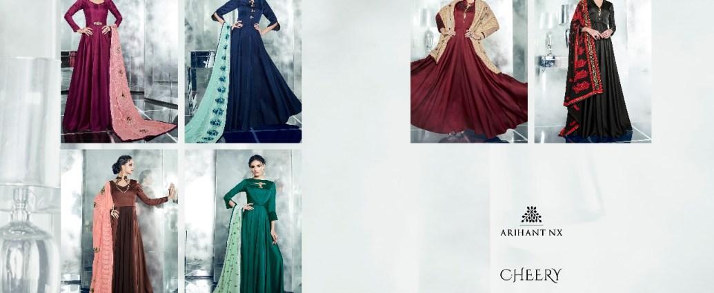 Princess Cut Floor Length Gown Arihant NX Cheery