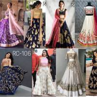Shop Reception Crop Top Lehenga RC Collection Online