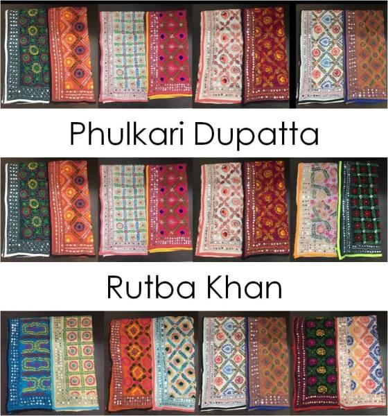Phulkari Dupatta Rutba Khan