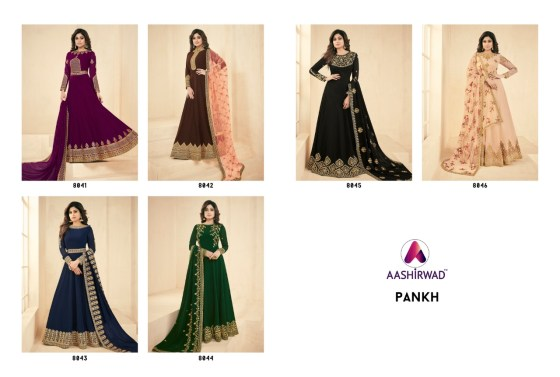 Designer Floor Length Anarkali Suits Aashirwad Pankh