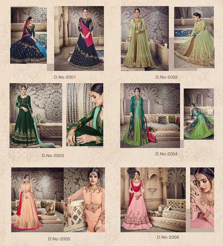 Partywear Floor Length Anarkali Gown Zaira NOOR JAHAN