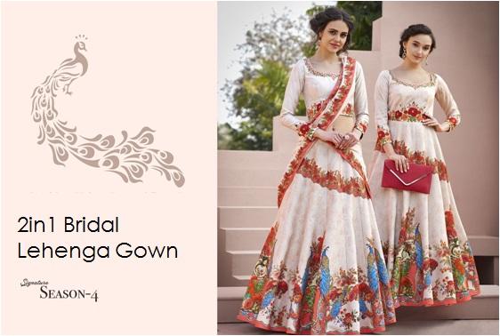 Bridal Lehenga Gown Saptrangi-Vol-4