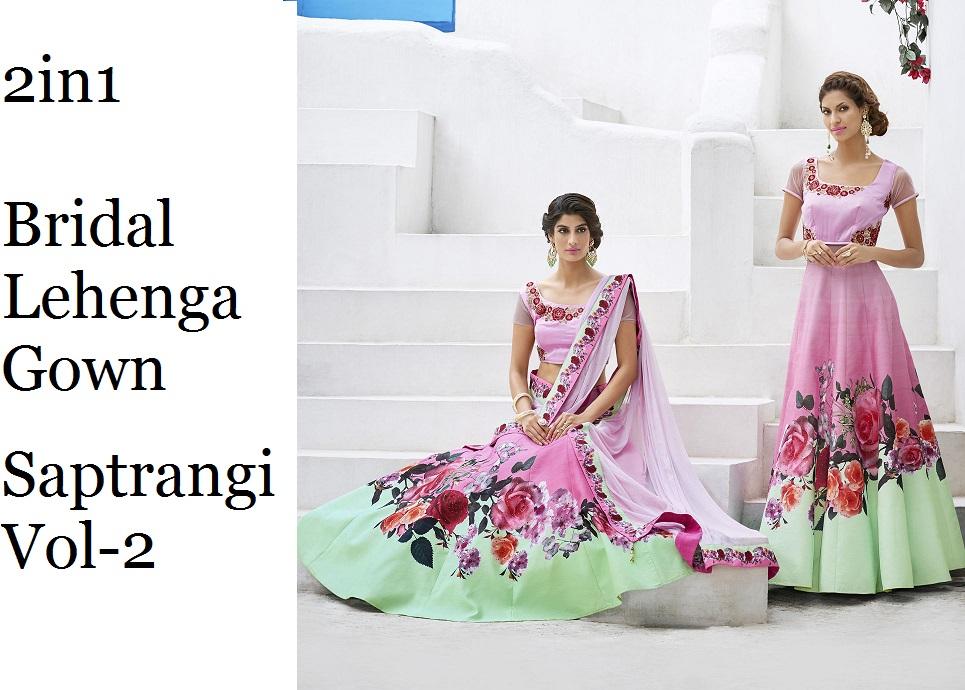 Bridal Lehenga Gown Saptrangi-vol-2