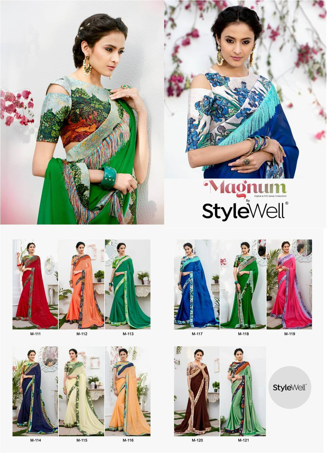 Shop PartyWear Chiffon Sarees StyleWell-Magnum-Collection Online