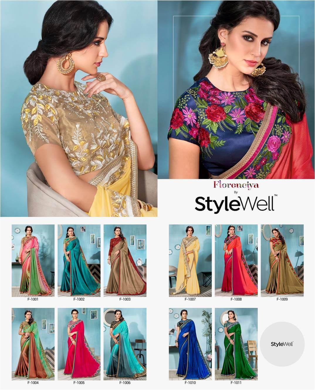 PartyWear Silk Sarees StyleWell-Florenciya-Vol-1