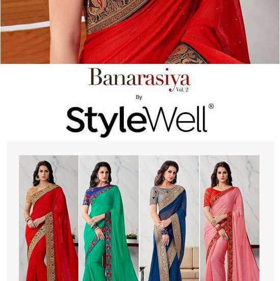 Party Wear Silk Sarees Stylewell-Banarasiya-Vol-2