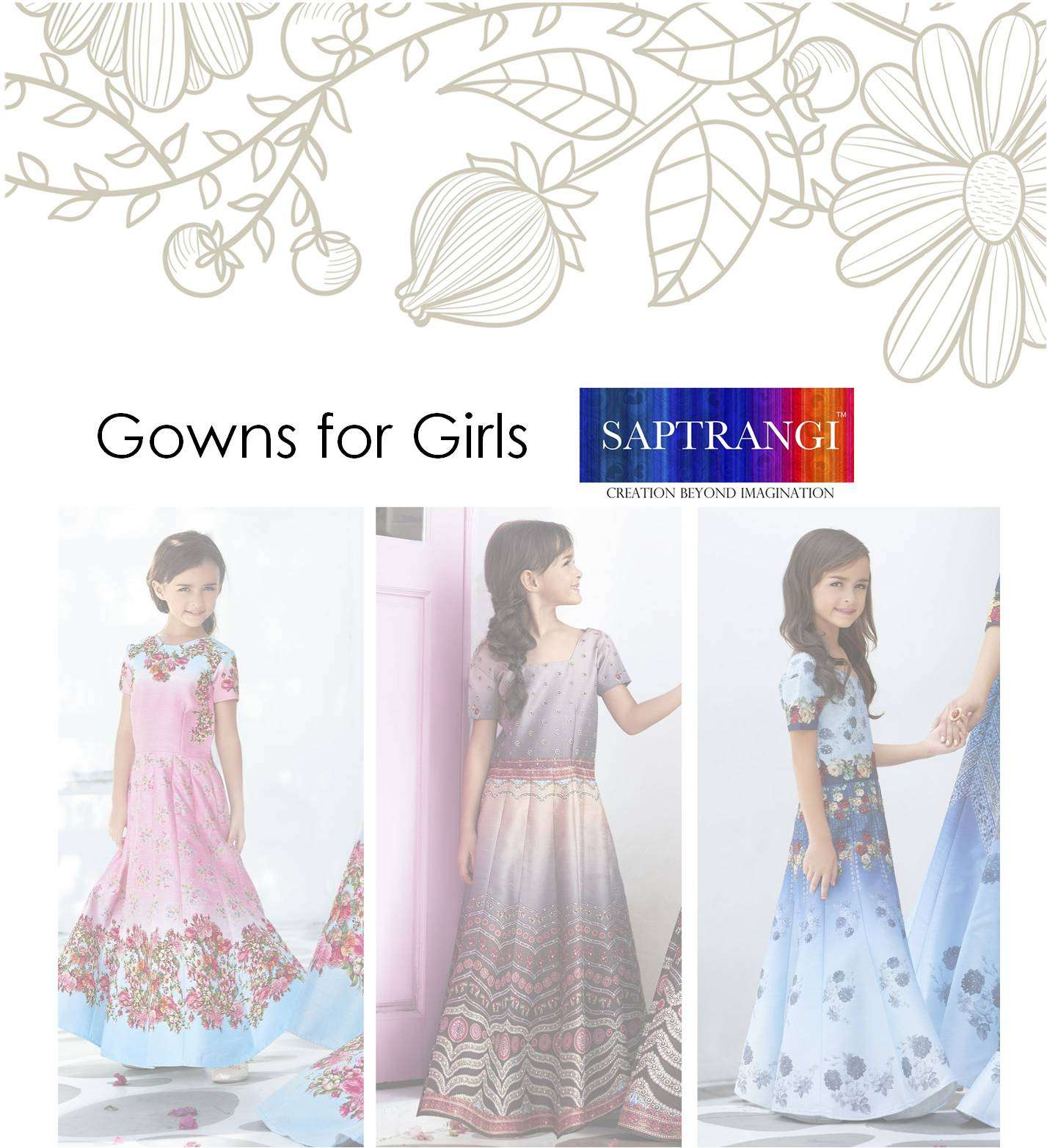 Girls Gown Saptrangi SL-300-Series