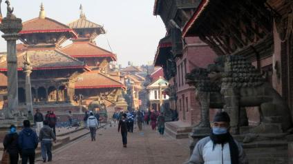 Patan Square near the museum