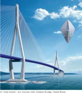 futuristic bridge Korea
