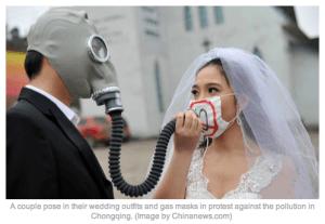 Beijing air pollution smog art