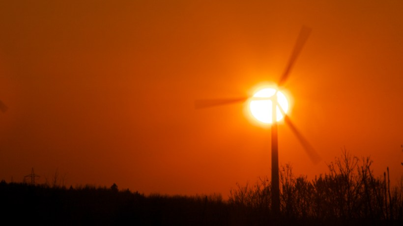 wind, solar, renewable, energy, clean, green, sunset, orange