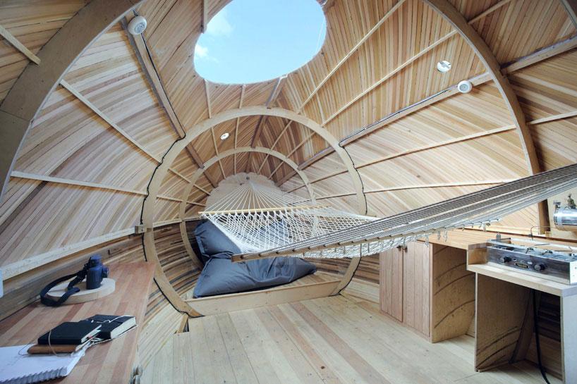 Interior of the Exbury Egg.