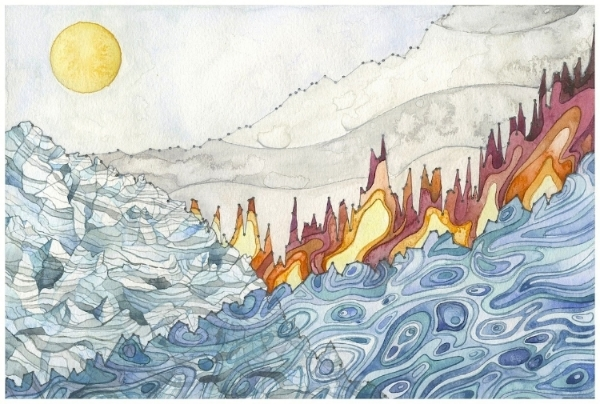 Landscape of Change by Jill Pelto.