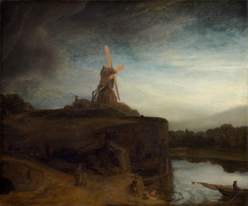 Rembrandt, The Mill, wind, windmill