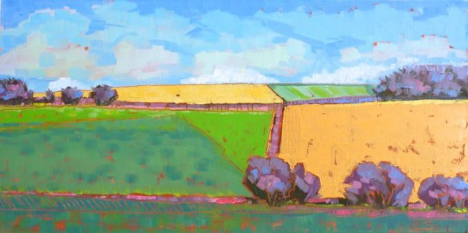 """Quadrants"" 12x24 oil on canvas"