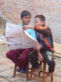 .Boys in nespaper routine