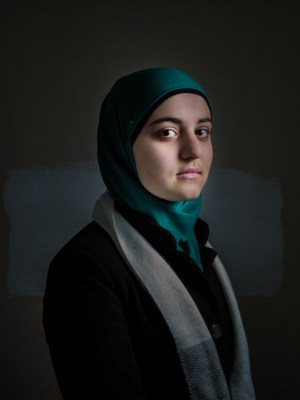 Girl at Syrian school in Reyhanli, by David Gross