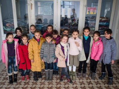 Students at a Syrian school in Kahramanmaras, Turkey, by David Gross