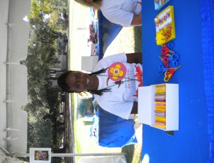 Volunteering at the Creative Corner at the Bayou City Art Festival Oct. 2015