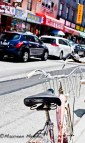 Old parked bike.