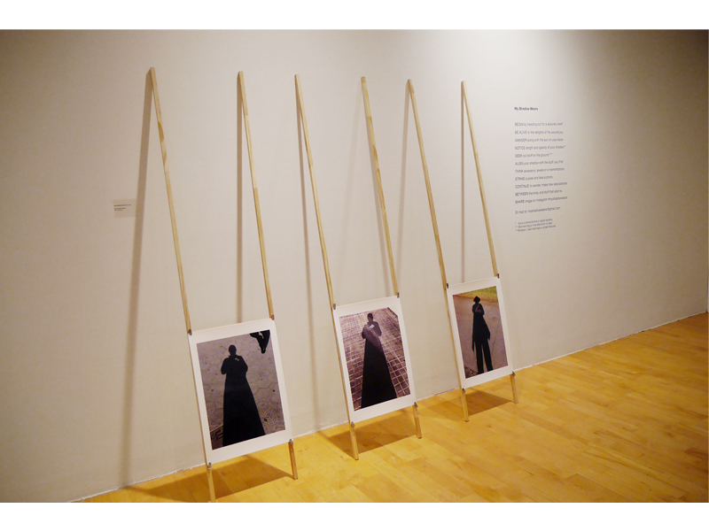 Exhibition view, After Wearing: A History of Gestures, Actions, and Jewelry, 2015, foreground work by Roseanne Bartley, Pratt Manhattan Gallery, New York, photo: Mònica Gaspar