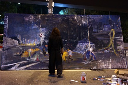 Miso Zo: Umbrella Movement (At work at the Admiralty site)