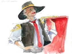 watercolour figure drawing matador