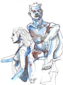 Blue Dual Model 25min Life Drawing