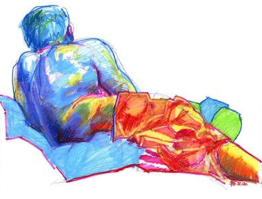 Man Reclining From Behind