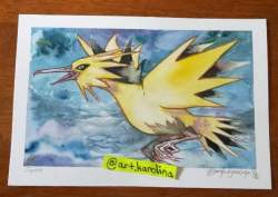 zapdos watercolour