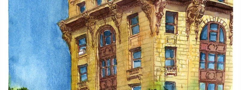 Watercolours of Montreal from Photos