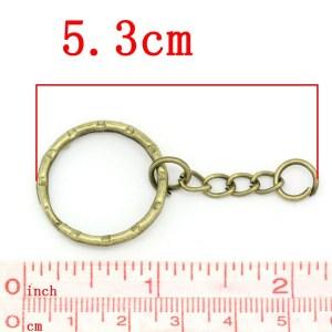 Porte-clés bronze à anneaux 53mm – lot de 5