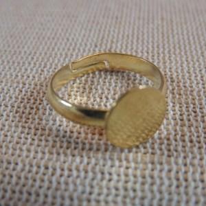 Supports bague doré à plateau en métal 18x10mm – lot de 10
