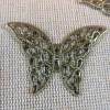 Connecteurs papillon bronze filigrané 41X29mm - lot de 10