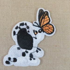 écusson dalmatien papillon patch thermocollant chien